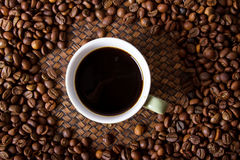 Espresso. Coffee bean in the jar Royalty Free Stock Images
