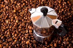 Espresso Maker. Coffee bean in the jar Royalty Free Stock Image