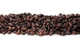 Coffee Bean Line on white Royalty Free Stock Photo