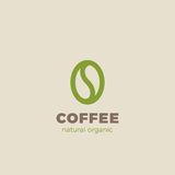 Coffee bean Logo design vector template Linear style. Coffee shop Logotype concept icon Royalty Free Stock Images