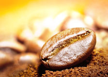 Coffee bean macro Stock Photos