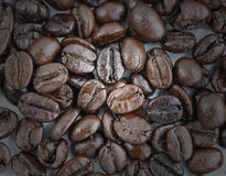 Coffee bean. Macro coffee bean for drink and background Stock Photos