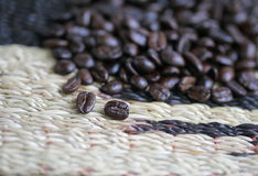 Coffee bean. Macro coffee bean for drink and background Royalty Free Stock Photo