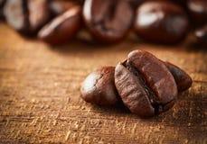 Coffee bean on macro ground Royalty Free Stock Photography