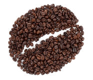 Coffee bean made from beans Royalty Free Stock Image