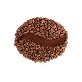Coffee bean made of beans. Royalty Free Stock Photo