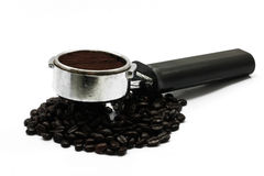 Coffee bean. With coffee maker Royalty Free Stock Images