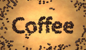 Coffee Bean on Old Paper Royalty Free Stock Images