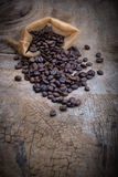 Coffee bean. On old wood Stock Photography