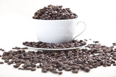 Coffee Bean Overflow Stock Photography