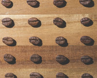 Coffee bean pattern. Image of many coffee beans in a pattern Stock Photos
