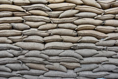 Coffee bean sacks in go down Stock Images