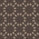 Coffee bean seamless pattern. Decorative seamless coffee bean pattern. Circles coffee grains Stock Photography