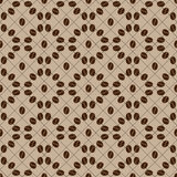 Coffee bean seamless pattern. Decorative seamless coffee bean pattern. Circles coffee grains Royalty Free Stock Photography