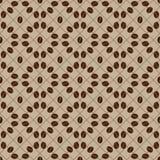 Coffee bean seamless pattern. Decorative seamless coffee bean pattern. Circles coffee grains royalty free illustration