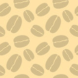 Coffee bean seamless pattern. Royalty Free Stock Images