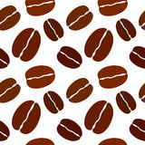 Coffee bean seamless pattern. Vector illustration. Stock Photography