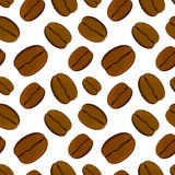 Coffee bean seamless pattern. Vector illustration. Royalty Free Stock Image