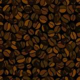 Coffee bean seamless pattern Stock Photos