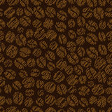 Coffee bean seamless pattern Stock Photography