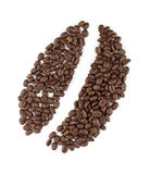 Coffee Bean Sign. Made of coffee beans Royalty Free Stock Image