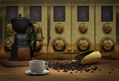 Free Coffee Bean Silos Royalty Free Stock Photos - 18633398