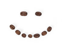 Coffee bean smile Stock Images