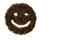 Coffee bean smile Royalty Free Stock Photo
