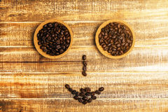 Coffee bean smiley Stock Images