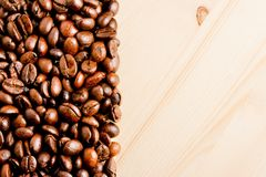 Coffee bean with space for text Royalty Free Stock Photography