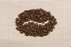 Coffee bean symbol Royalty Free Stock Photo