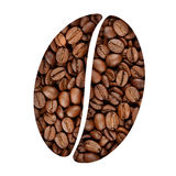 Coffee bean symbol Royalty Free Stock Images
