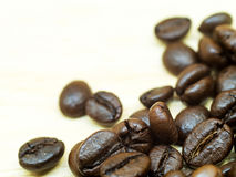 Coffee bean on the table. Royalty Free Stock Photos
