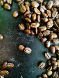 Coffee Bean. On the table royalty free stock photos