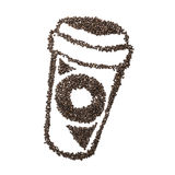 Coffee Bean To Go Cup Royalty Free Stock Image