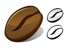 Coffee bean. Vector illustration of a coffee bean royalty free illustration