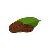 Coffee bean. Vector coffee bean isolated on background. Food art. Great for recipe, label, tag. menu, cosmetics design. Healthy lifestyle or vegetarian concept royalty free illustration