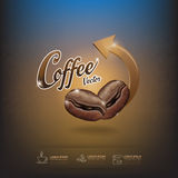 Coffee Bean Vector Template Royalty Free Stock Image