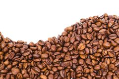 Coffee bean wave Royalty Free Stock Image