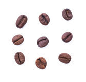 Coffee bean on white background Royalty Free Stock Photo