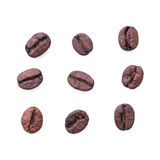 Coffee bean on white background Royalty Free Stock Photography
