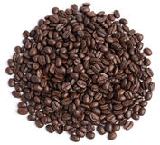 Coffee bean on white background Stock Images