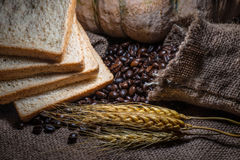 Coffee bean,whole grains. Healthy grains as raw material for cooking Stock Images