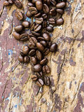Coffee bean on a wood Royalty Free Stock Photos