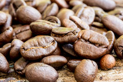Coffee bean on a wood Stock Photo