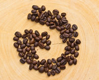 Coffee bean on wooden Royalty Free Stock Photography