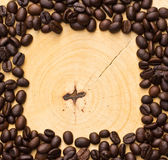 Coffee bean on wooden background. Stock Images