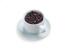 Coffee beans. Cup full of coffee beans with clipping path for easier extraction Stock Photo
