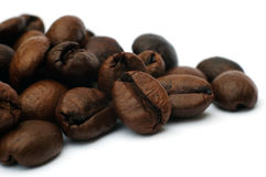 Coffee beans. On white background Royalty Free Stock Photo