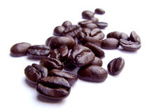 Coffee Beans. Isolated on white royalty free stock image